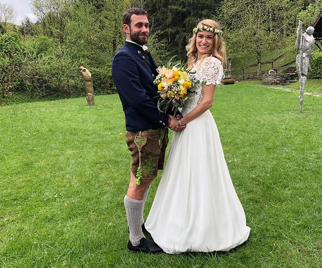 Individuelle angefertigte Trachten-Kleidung fürs Brautpaar