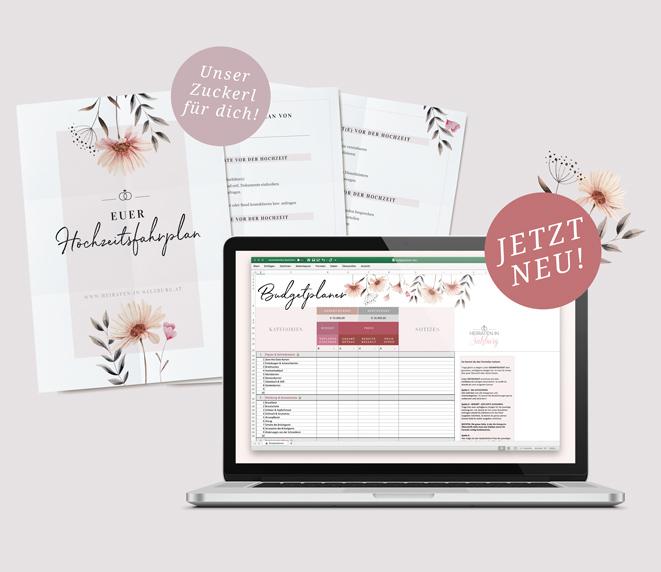 Budgetplaner & Hochzetisfahrplan für deine Hochzeit