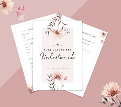 Hochzeitsmusik-Checkliste zum Download