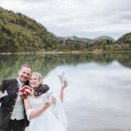 Brautpaar Love am HIntersee