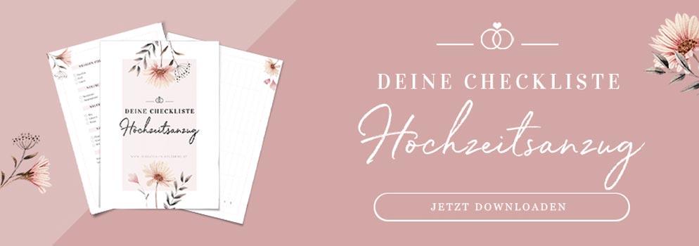 Deine Checkliste für den Hochzeitsanzug