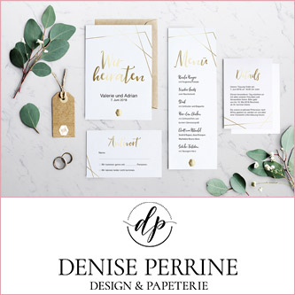Einladungskarten für Hochzeiten von Denise