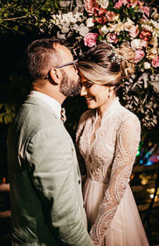 Stil eines Hochzeitsfotos