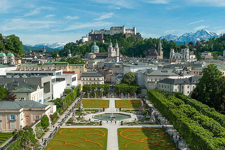 View on the castle Salzburg