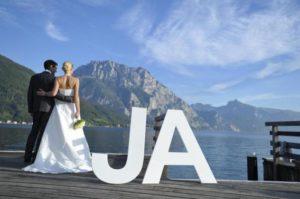 Hochzeit am See mit Bergen? Ab zum Traunsee