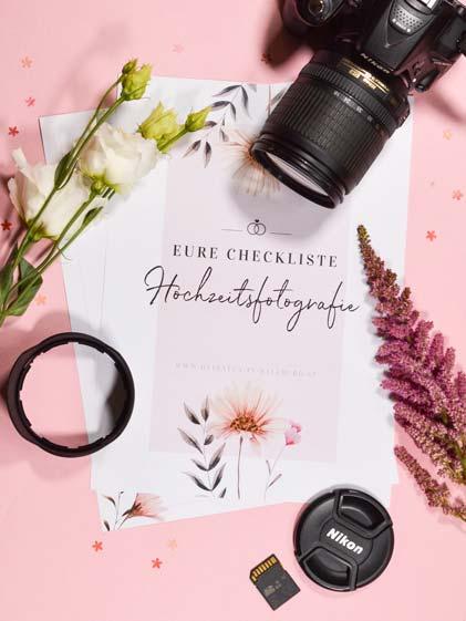 Hochzeitsfotografie-Checkliste gratis downloaden