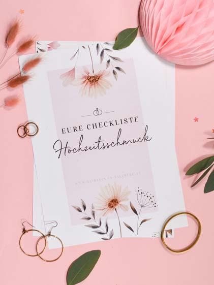 Hochzeitsschmuck-Checkliste zum Download
