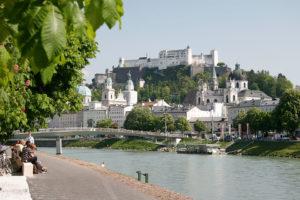 Blick auf die Burg/Festung Hohensalzburg