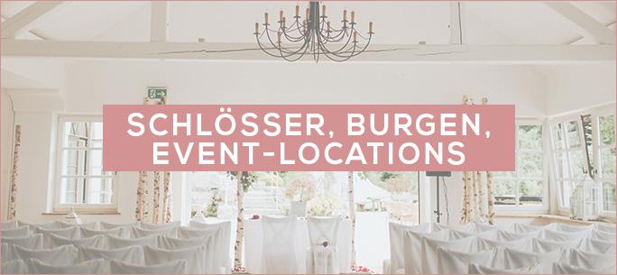 Schlösser, Burgen und Event-Locations für die Hochzeitsfeier