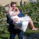Eintreffen des Brautpaars im s'Gwölb Thurmhof