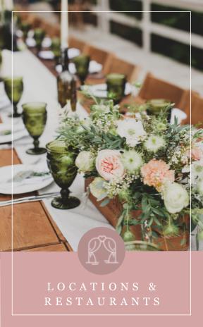 Locations und Restaurant für die Hochzeitsfeier