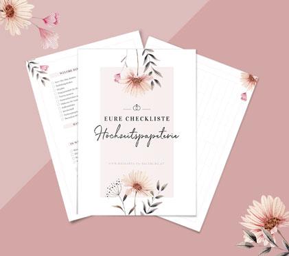 Hochzeitspapeterie-Checkliste für den Download