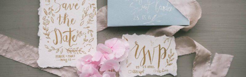 Hochzeitspapeterie als Menü-Karten