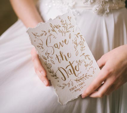 Helle Save the Date Karte