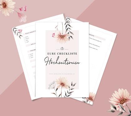Kostenfreie Hochzeitsreise-Checkliste