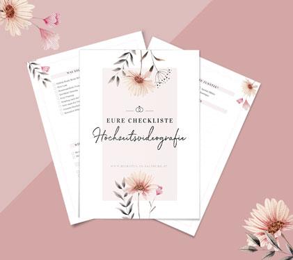 Kostenlose Checkliste zum Hochzeitsvideo