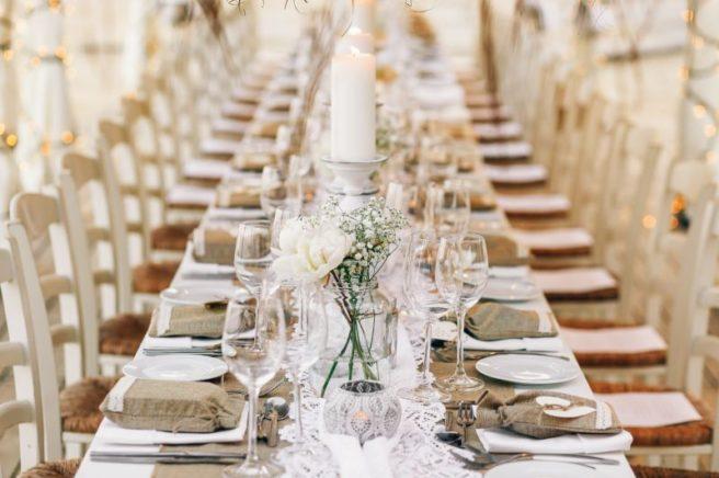 Hochzeitsdekoration Thema Strand mit Jutte