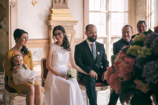 Brautpaar im Standesamt Mirabell