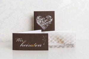 Einladungskarte, Inlay und Hülle