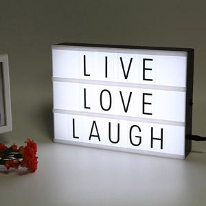 LED Leuchtkasten beschriftbar