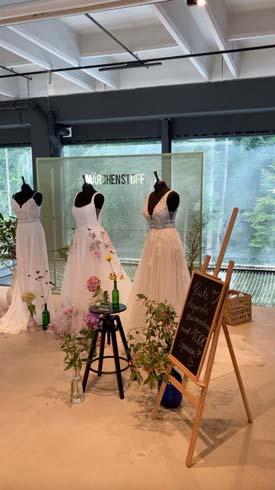 Märchenstoff Brautkleider auf der Luft & Liebe 2021