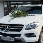 Mercedes SUV als Hochzeitsfahrzeug