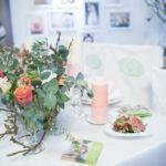 Floristen Messestand m. Blumendeko