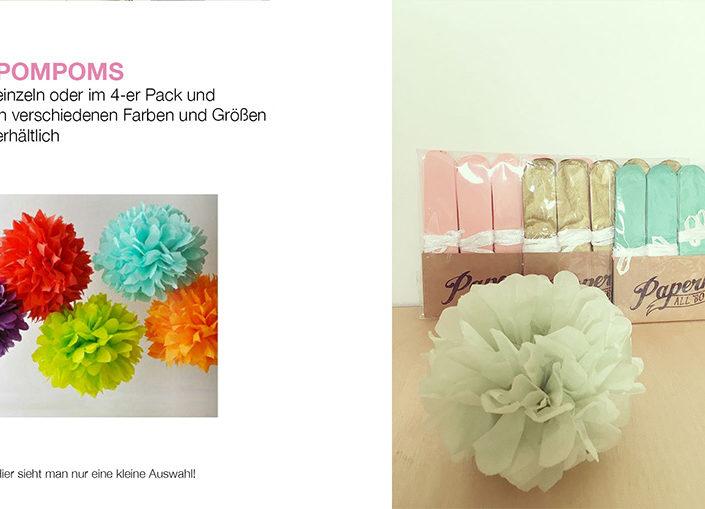 Mini PomPoms in verschiedenen Farben