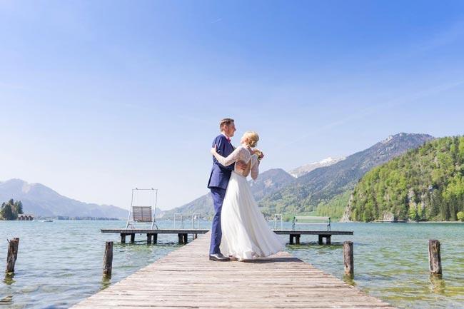 Am Seeufer heiraten im Seehotel Brandauers Villen