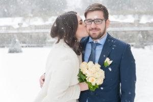 Mirabellgarten Schneetreiben Salzburg