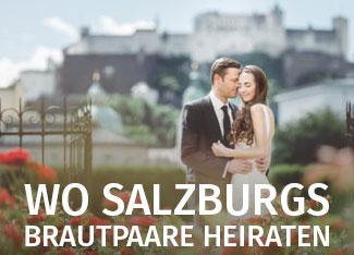 Brautpaar vor Festung Salzburg | Foto (c) Bernd Käferböck